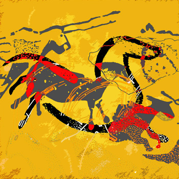 Lascaux No 2 - Digital Print on Canvas